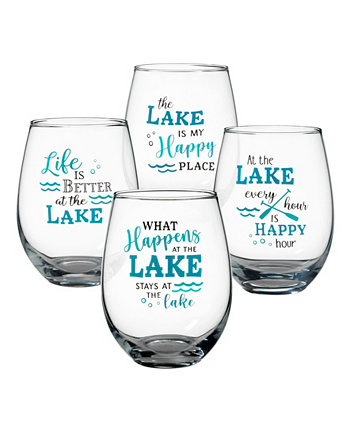 Бокалы для вина At The Lake без ножек, набор из 4 шт. Lillian Rose