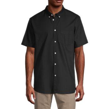 Оксфордская рубашка с короткими рукавами и пуговицами Oden WeSC