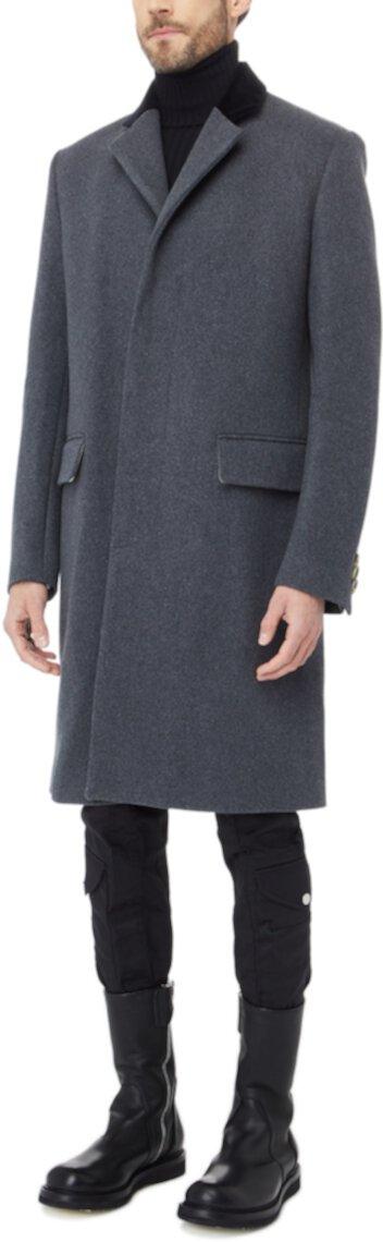 Однобортное пальто из шерстяного войлока MARNI