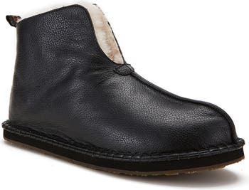 Leather Genuine Shearling Lined Slipper Australia Luxe Collective
