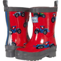 Farm Tractors Shiny Rain Boots (Toddler/Little Kid) Hatley Kids