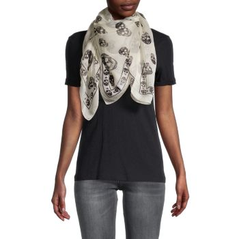 Классический шелковый шарф с черепом Alexander McQueen