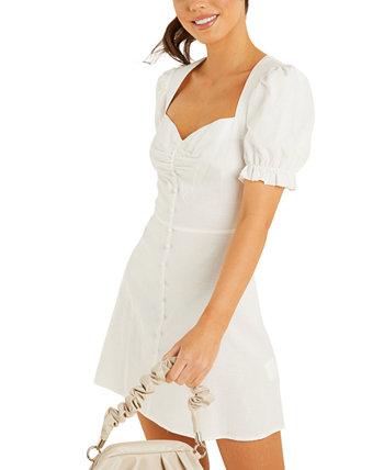 Платье с пышными рукавами и вырезом в форме сердца Quiz