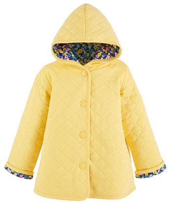 Стеганая куртка с цветочным рисунком для маленьких девочек, созданная для Macy's First Impressions