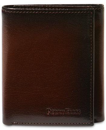 Портфель мужской кожаный Мичиган тонкий кошелек Ombre Trifold Perry Ellis Portfolio