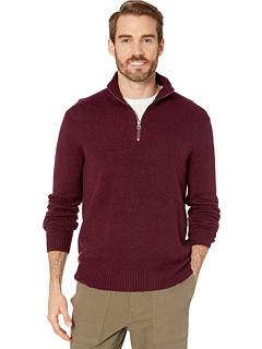 Прочный свитер из шерсти мериноса с молнией до половины J.Crew