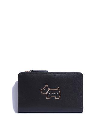 Кожаный кошелек двойного сложения среднего размера Radley London