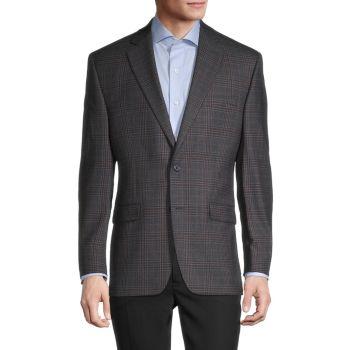 Пиджак стандартного кроя в клетку из смесовой шерсти LAUREN Ralph Lauren