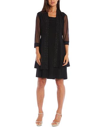 Платье и жакет с украшением R & M Richards