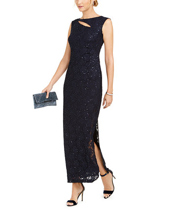 Кружевное платье с вырезом и блестками Connected