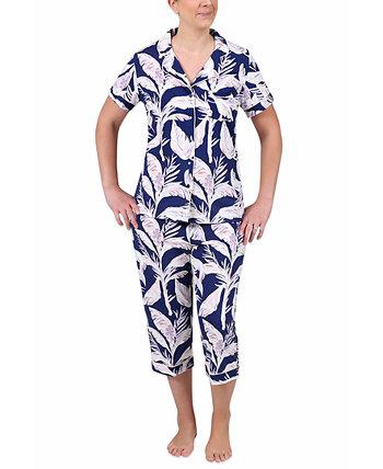 Комплект укороченных пижамных штанов с принтом Miss Elaine