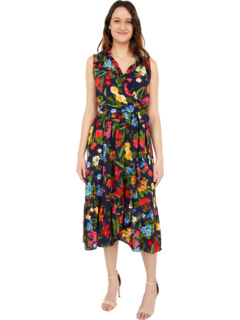 Платье с запахом и оборками Botanical Bloom London Times