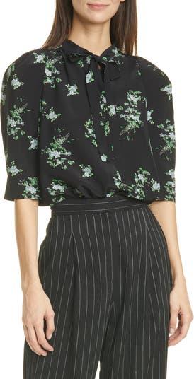 Шелковая блуза с цветочным принтом Judith & Charles Bali JUDITH AND CHARLES