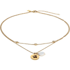 Pearl Two Row Pendant Necklace COACH