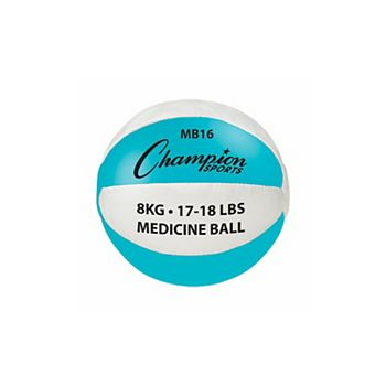 Champion Sports MB16 17-18 lbs Leather, Teal & White Champion Sports