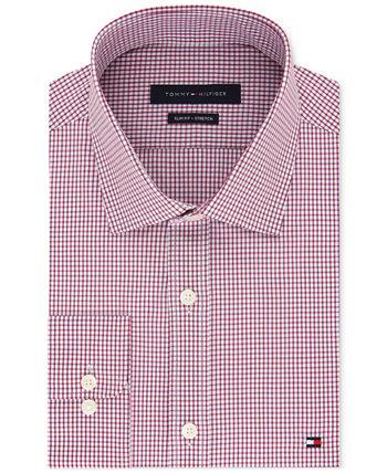 Мужская приталенная классическая рубашка из эластичного материала, эксклюзивно в Интернете Tommy Hilfiger