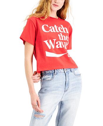 Хлопковая футболка с графическим принтом Coca-Cola для юниоров Mad Engine