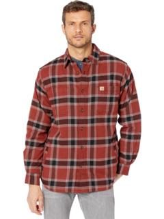Рубашка свободного кроя с фланелевой подкладкой из флиса Rugged Flex в клетку Carhartt