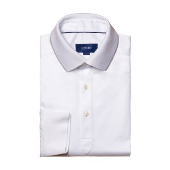 Turning To Nature Contemporar-Fit Long-Sleeve Polo Shirt Eton