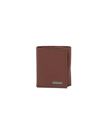 Мужской кожаный RFID-кошелек в три сложения в подарочной коробке CHAMPS