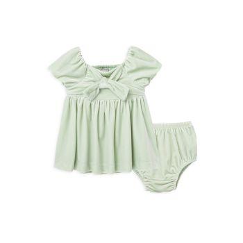 Baby Girl's Puff Sleeve Babydoll 2-Piece Dress Set Habitual