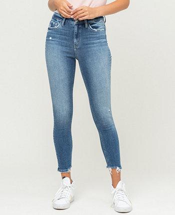 Женские джинсы скинни до щиколотки со сломанным краем и высокой посадкой FLYING MONKEY