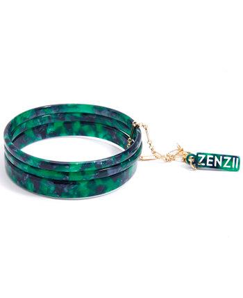 Золотой / Ацетатный 3 шт. Набор браслетов-браслетов Zenzii