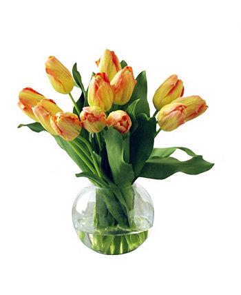 Постоянный ботанический тюльпан в пузырчатой чаше Winward Silks