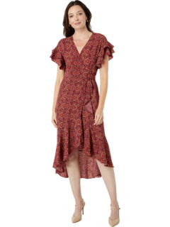 Плетеное платье с запахом и короткими рукавами Max Studio