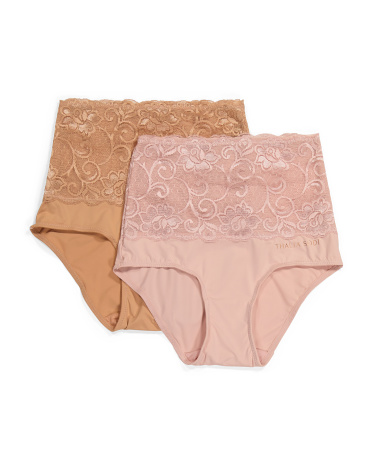 2pk Shaping Lace Control Waist Briefs Thalia Sodi