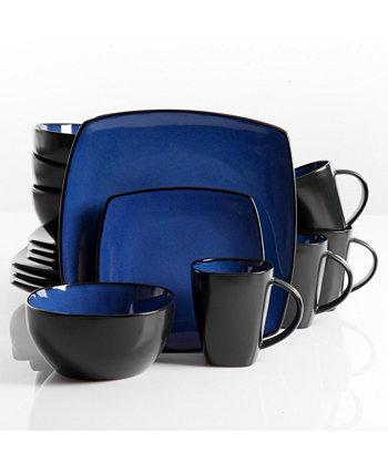 Soho Lounge Набор столовой посуды из 16 предметов, синий, сервиз для 4 человек Gibson