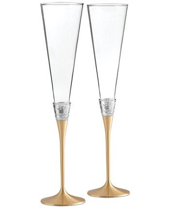 Золотая пара флейт с любовью Vera Wang Wedgwood