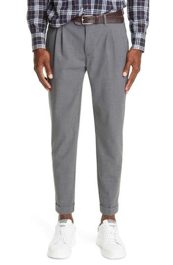 Классические брюки из эластичной шерсти со складками Eleventy