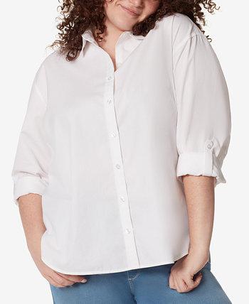 Рубашка больших размеров Amanda на пуговицах Gloria Vanderbilt