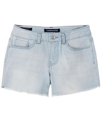 Короткие шорты-бойфренды для больших девочек Calvin Klein