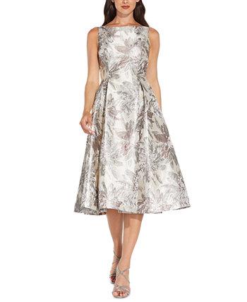 Металлическое платье миди Adrianna Papell