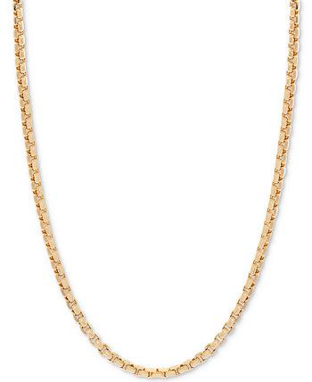 18-дюймовое колье-цепочка с круглой коробкой (1-1 / 2 мм), золото 585 пробы Italian Gold