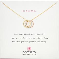 Ожерелье с тройным кольцом кармы Dogeared