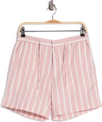 Шорты со складками в розовую полоску TOPMAN
