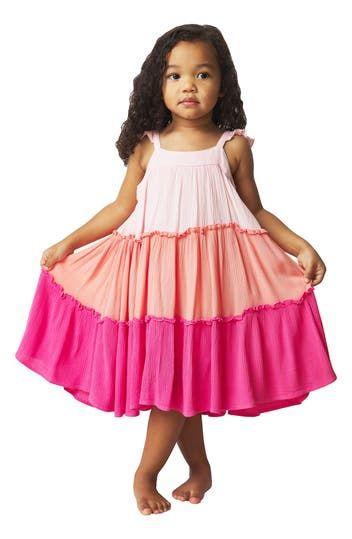 Платье из складок с цветными блоками (для малышей и маленьких девочек) French Connection