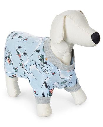 Ski Mountain Printed Pet Pajamas Family Pajamas