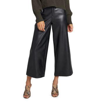 Широкие укороченные брюки из искусственной кожи A.L.C.