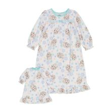 Disney's Frozen Toddler Girl Elsa's World Night Gown & Doll Gown Set Licensed Character