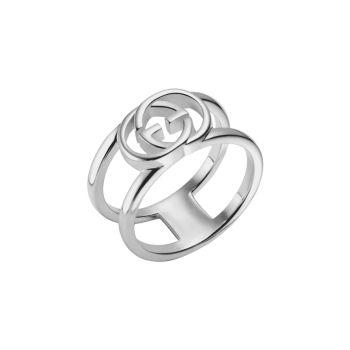 Кольцо из стерлингового серебра с переплетенным логотипом G GUCCI