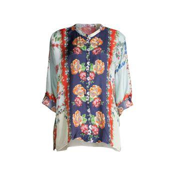 Шелковая блуза с принтом Kallipoe Johnny Was