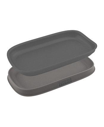 Подставка для двойной ложки из нержавеющей стали, Двойной термостойкий держатель для посуды, набор из 2 предметов Tovolo