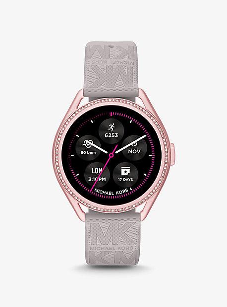 Michael Kors Access Gen 5E MKGO Pink-Tone and Logo Rubber Smartwatch Michael Kors