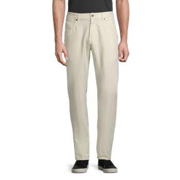 Standard-fit Pima Cotton & Linen Jeans Billy Reid