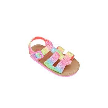 Girl's Rainbow Glitter Sandals Nicole Miller New York