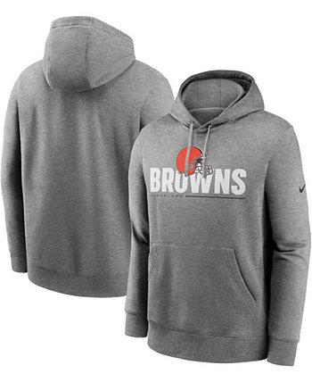 Мужская толстовка с капюшоном для высоких и больших размеров темно-серого цвета Cleveland Browns Team Impact Club Nike